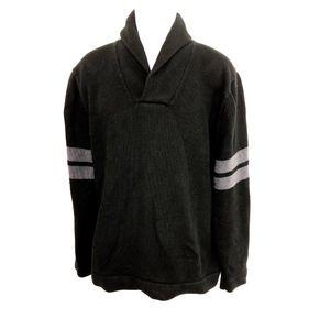 Banana Republic Shawl Neck Collar Sweater Black XL